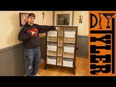 Living Room Toy Organizer Shelf with Modern Base