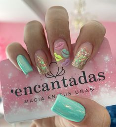 Pin on Nailssss Pin on Nailssss Gold Glitter Nails, Pink Nails, My Nails, Disney Acrylic Nails, Best Acrylic Nails, Dope Nails, Swag Nails, Nails For Kids, Manicure E Pedicure