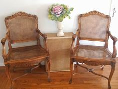 D.D.'s Cottage and Design: 4 French Cane Chairs