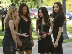 The Pretty Little Liars are back in black in this sneak peek from the summer premiere! Pin it if you're also having major pilot déjà vu!!!