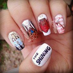 The Shining (Stephen King) Helloween Nail Art.