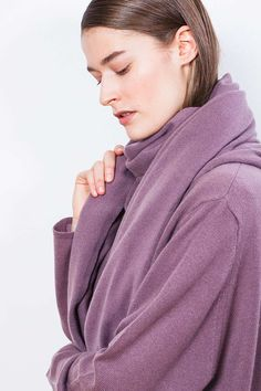 """Arela AW14 collection """"Clement Days"""". Alma cashmere scarf and Lois cashmere cardigan."""