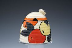 Oranges And Lemons Large Beehive Honey Pot | Clarice Cliff | Desired Antiques & Collectables