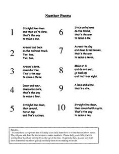 1000+ ideas about Number Poems on Pinterest | Teen Numbers ...