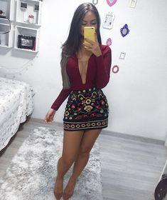 Pin by Mineiro Loko on Moda Night Outfits, Fall Outfits, Summer Outfits, Casual Outfits, Cute Outfits, Look Fashion, Girl Fashion, Fashion Outfits, Womens Fashion