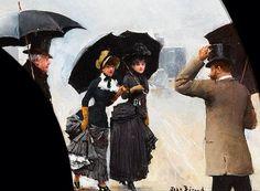 1882......SOUS LA PLUIE.........PARTAGE DE LE PEINTRE JEAN BERAUD.........SUR FACEBOOK.........