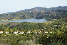 You can't go swimming in the Las Virgenes Reservoir but it sure makes for gorgeous views.