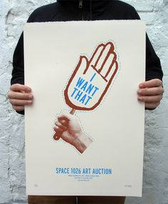 It's a fun idea to create bidding paddles for your live auction. While not necessary, it adds an extra little something to that real auction feel. Poster by Alex Lukas.