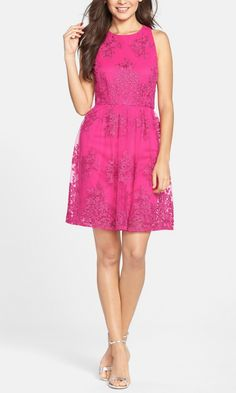 This is the perfect little pink dress to wear for a Valentine's Day date!
