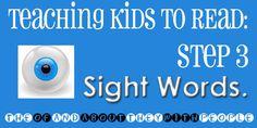 How to teach sight words.