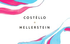 God how I love a hand crafted approach to design! nice.  CostelloHellerstein