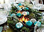 24 arranjos de mesa para a ceia de Natal