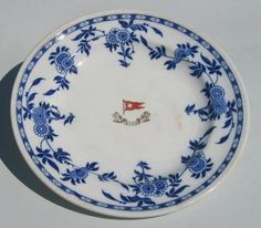 "The second-class dining room on Titanic was set with a very attractive pattern of restaurant-grade Delft china.  It is generically referred to as ""restaurant grade"" because it is a quality of dinnerware that was, and is, universally used in restaurants everywhere"