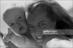 Romy Schneider with Harry Meyer and son David In France In 1968.