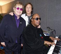 Elton John, Paul McCartney and Stevie Wonder