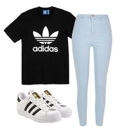 """""""Untitled #198"""" by kingrabia on Polyvore featuring adidas, River Island and adidas Originals"""