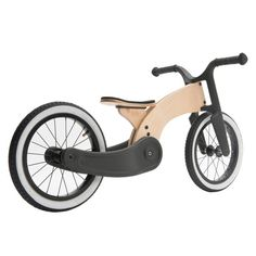Wishbone Cruise Bike, Made from recycled plastic and plantation birch, Rubber whitewall tires, Adjustable seat, Simple & sustainable design. Tricycle, Paper Structure, Wood Bike, Bike Kit, Lowrider Bike, Balance Bike, Big Wheel, Wood Toys, Sustainable Design