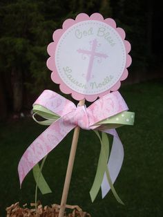 NEW Christening Favor Tags - Set of 12