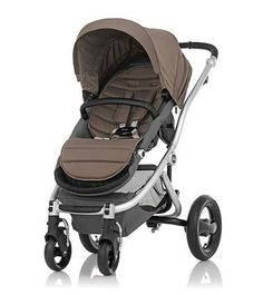 Affinity Stroller by Britax - Silver base frame with Fossil Brown color pack - Britax USA