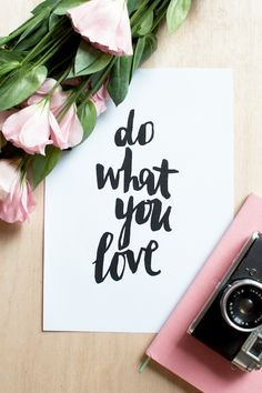 do what you love quotes pretty thoughts inspiration pink Words Quotes, Me Quotes, Motivational Quotes, Inspirational Quotes, Sayings, Famous Quotes, The Words, Encouragement, Beautiful Words