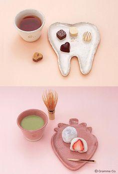 「Tooth(歯)」と「ストロベリー」の和食器