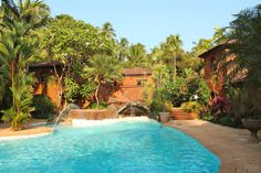 Pousada Tauma in Goa is expensive, but exquisite. We loved, loved, loved our stay there. The grounds and gardens are paradise-like. Curly Traveller: Boutique Hotel Pousada Tauma: serene tropical gardens