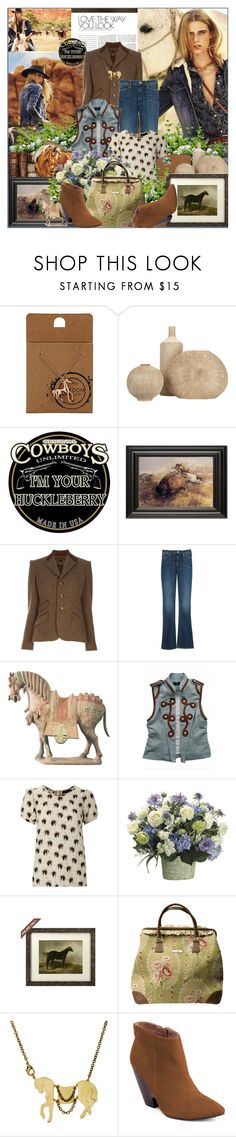 """""""Horse"""" by barbarela11 ❤ liked on Polyvore featuring Ralph Lauren Black Label, Mother, Therapy, Monserat De Lucca and Madison Harding"""