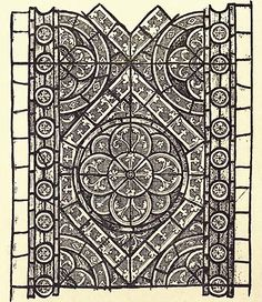 AppGlass Drawing of Grisaille glass. Part of remainder of Henry III's new works at Westminster Abbey c. 1255