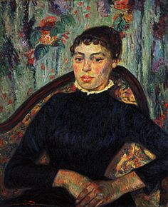 1886  Armand Guillaumin  Portrait d'une jeune femme  Huile sur Toile    65x54 cm  Amsterdam Rijksmuseum Vincent Van Gogh