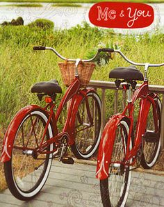 two red bycicles