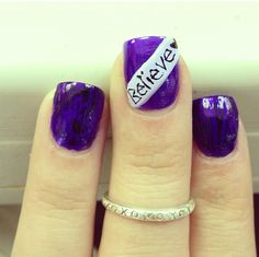 LOVE!!!! Justin Bieber!!! These nails are cute, not too much but still makes a statement. #BELIEVE