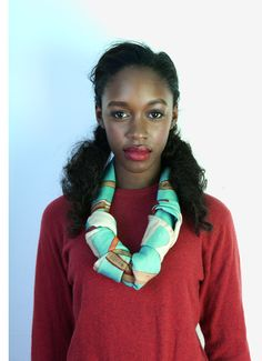 Charlotte Linton - Freelance Print Designer I'm going to use my scarf like this