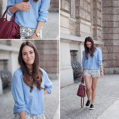 Zara Blouse, Superga Sneakers, Marc By Marc Jacobs Watch, Topshop Shorts