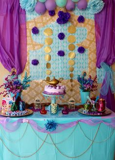 Shimmer And Shine Birthday Princess Jasmine Party Aladdin 6th Parties