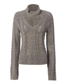 Exclusive for Intermix Carmen Collared V Neck Braided Sweater: This soft sweater is crafted with braided detail through the front and V-cutout at the neckline. Long sleeves. In grey. Fabric: 90% wool/10% cashmere Made in China. Model Measurements: Height 5'10 1/2; Waist 24 ; Bust 31 wearing size S Length from ...
