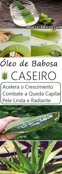 ÓLEO DE BABOSA CASEIRO: Sabemos o quanto a babosa / áloe vera trás inúmeros benefícios para os fios. Reduz a queda capilar, hidrata, combate a caspa, Estimula o Crescimento e regenera a fibra capilar.