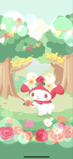 Moody Wallpaper, My Melody Wallpaper, Sanrio Wallpaper, Kawaii Wallpaper, Cartoon Wallpaper, Sanrio Characters, Cute Characters, Melody Hello Kitty, Cute Lockscreens