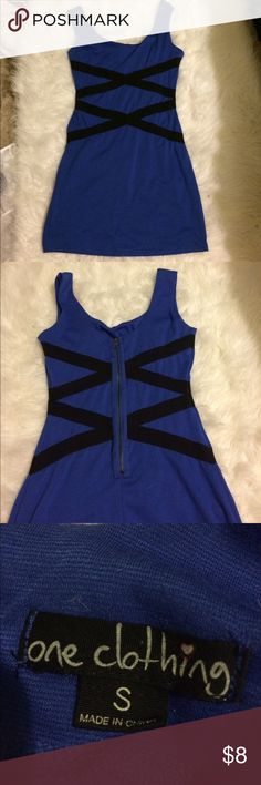 Black and blue dress One Clothing black and blue body-con dress. one clothing Dresses