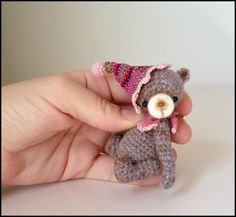 Looking for crocheting project inspiration? Check out Mini Thread Crochet Teddy Bear