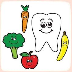 When you are teaching kids about all the important things in life one of the important things to teach them is good dental care. Dental Kids, Dental Art, Dental Health Month, Health Activities, Hygiene, Health Education, Pre School, Preschool Activities, Preschool Education