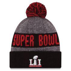 25368b877 Men s New Era Heathered Gray Black Super Bowl LI Sport Cuffed Knit Hat with  Pom