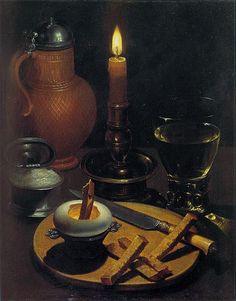 §§§ : Still Life with Candle : Gottfried von Wedig : 1630