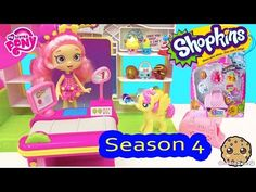 Season 4 Shopkins 5 Pack Unboxing with Blind Bag at Small Mart Playset with POP My Little Pony - YouTube