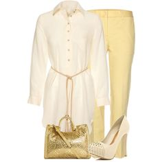 """""""Gold and Cream"""" by fashion-766 on Polyvore"""