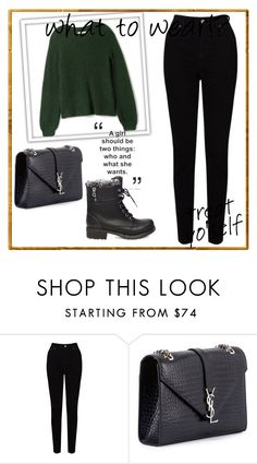 """""""MY CREATED"""" by mersy-123 ❤ liked on Polyvore featuring EAST, Yves Saint Laurent and Steve Madden"""