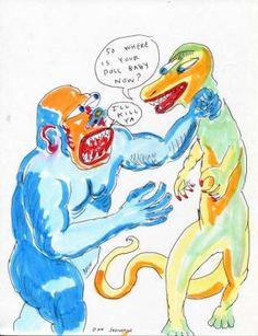 Buy some Daniel Johnston art!