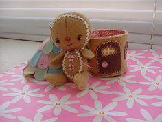 felt gingerbread doll