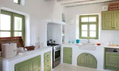 Greek Kitchens Are Rustic and Modern Perfection   Apartment Therapy
