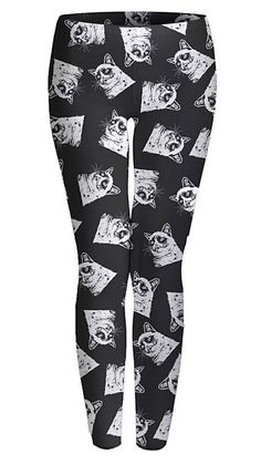 Grumpy Cat Leggings - they are hideous and I want them.