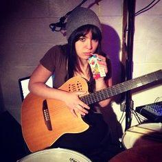 Caitlin drinking juice @ practice